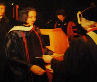 Getting my Bachelor's Degree in Psychology from Rutgers-Camden, 2001